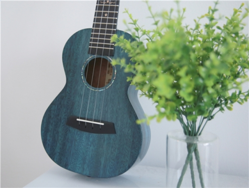 Kaka MAD ukulele Solid Mahogany Blue color with bag Enya ukeleles Hawaii 4 string Acoustic guitar musical instruments