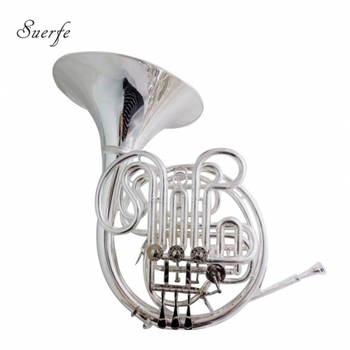 Alexander 103 French Horn Silver plated Musical instruments Double row french horn 4 Valves with Case