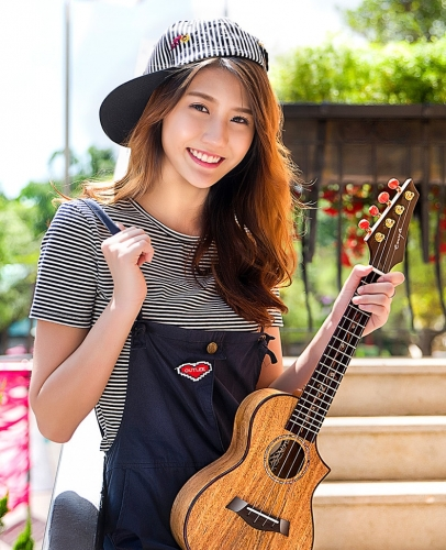 "Enya MG6 Ukulele 23""26"" 3A solid Mango wood ukelele concert tenor Hawaii Guitar 4 String Musical Instruments professionals"