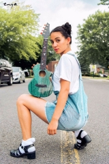 Enya Blue M6 Ukulele Solid Mahogany ukuleles with bag Hawaii mini guitar musical instruments