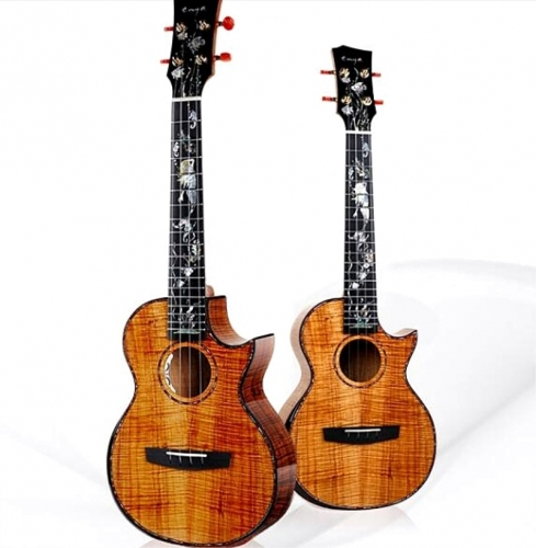 NEW Enya A8 Handmade Ukulele with pickup for Show 10 years 5A Hawaii KOA 4 string Mini Guitar Musical Instruments