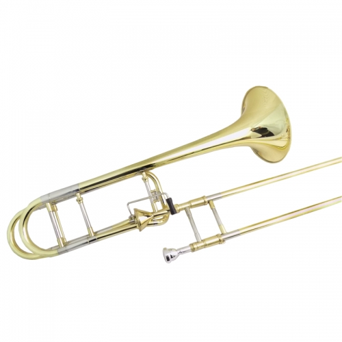 Bb/F Tapered Rotors Trombone Edward with case Yellow Brass Trombones Lacquer musical instruments