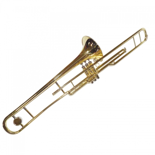 Piston Trombone Bb with with Wood Case and Mouthpiece Brass Trombone B Flat Musical instruments