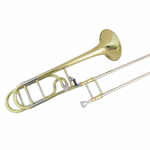 Bb/F  Tenor Trombone F attachment with Case Mouthpiece Tuning slides trombones Musical instruments Yellow Brass Body