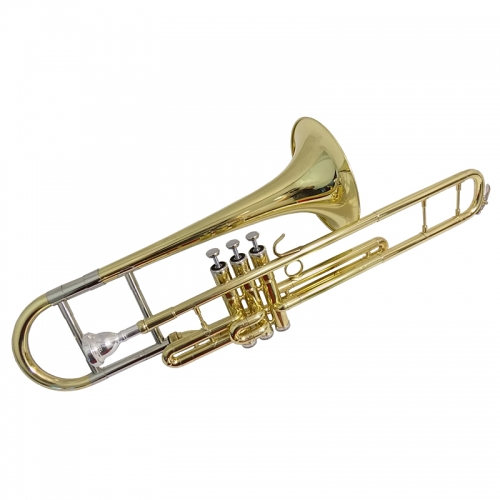 F Piston Trombones Musical instruments with case mouthpiece Copper Trombones Lacquer Nickel Silver plated