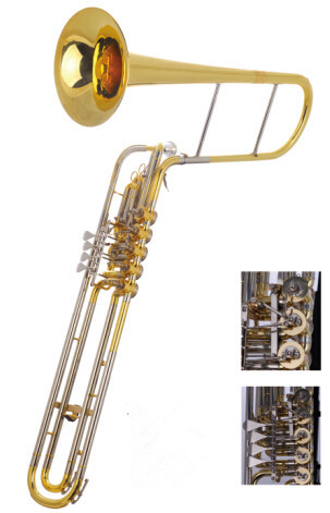Eb/F Cimbasso 5 Valves Rotary Trigger with Foambody Case professional Brass Musical instruments