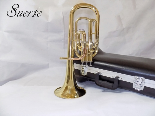Eb Brass Alto Horn Three Pistons Lacquer finish with Case and mouthpiece Musical instruments professional