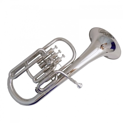 Pistons Alto Horn with ABS Case Mouthpiece Eb alto horns Musical instruments Yellow brass Nickel plated