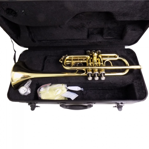 Free shipment C Flat Trumpet Brass instruments with mouthpiece case buy trumpets from China online shop
