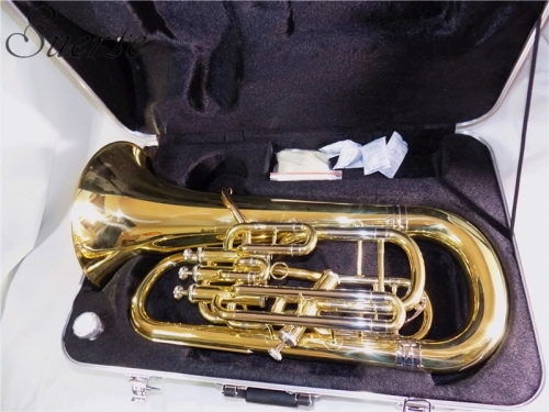 Bb Euphonium 3+1 Four Pistons Euphonium Brass body with ABS case instrumentos musicales professional