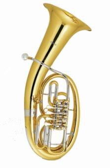 Musical instruments Bb B flat Euphonium 4 Rotary Valves Brass Body with Foambody case and mouthpiece
