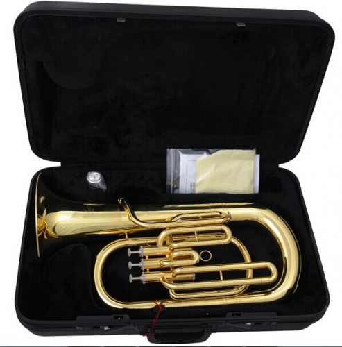 Brass Wind Instruments Euphonium Bb B Flat 3 Pistons Brass Body with ABS case and mouthpiece