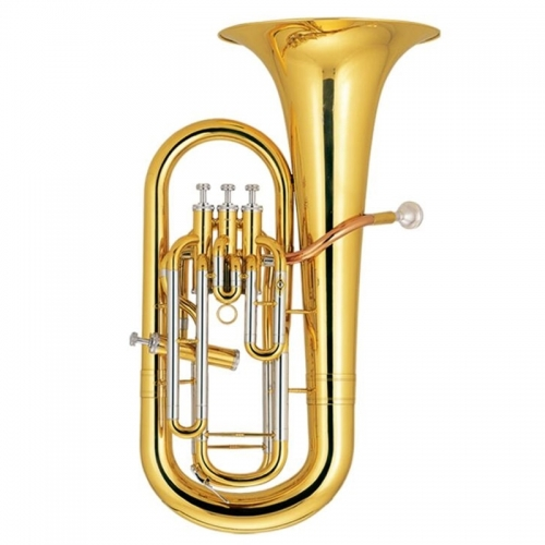 Bb Euphonium 3+1 Piston Brass Body Lacquer Finish with ABS case musical instruments professional