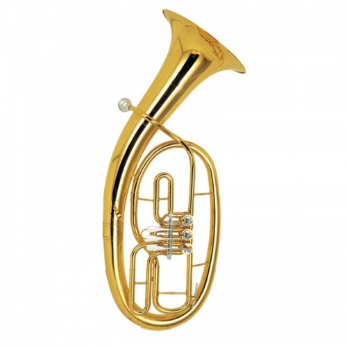 Free shipment Bb Baritone Three Valves Lacquer Finish With ABS case and mouthpiece Yellow brass Baritone Musical instruments