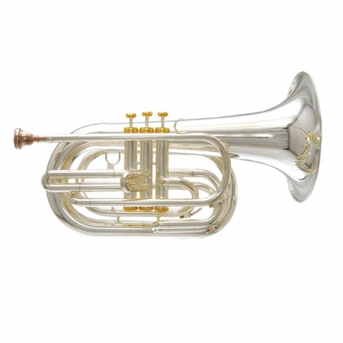 Bb Marching Baritone horn musical instruments with Foambody case and mouthpiece