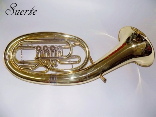 Free shipping from China 4 valves Baritone horn musical instruments Yellow brass baritone with case and mouthpiece