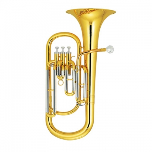 Free shipping 3 Pistons Baritone horn musical instruments from China Brass Body Lacquer With ABS case and mouthpiece