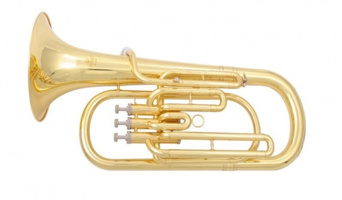Free shipment Bb Baritone Horn musical instruments 3 Pistons baritone with ABS Case and Mouthpiece buy musical instruments from China