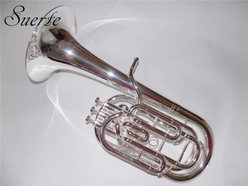 Free shipping Bb Compensated Baritone 3 Pistons Baritone horn Silver Plated with Foambody Case and Mouthpiece Musical Instruments